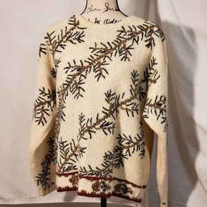 Woolrich Holiday/Winter Holly Sweater Size Large